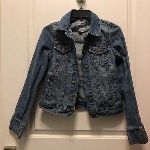 Old Navy Jean Denim Distressed Blue Jacket XS